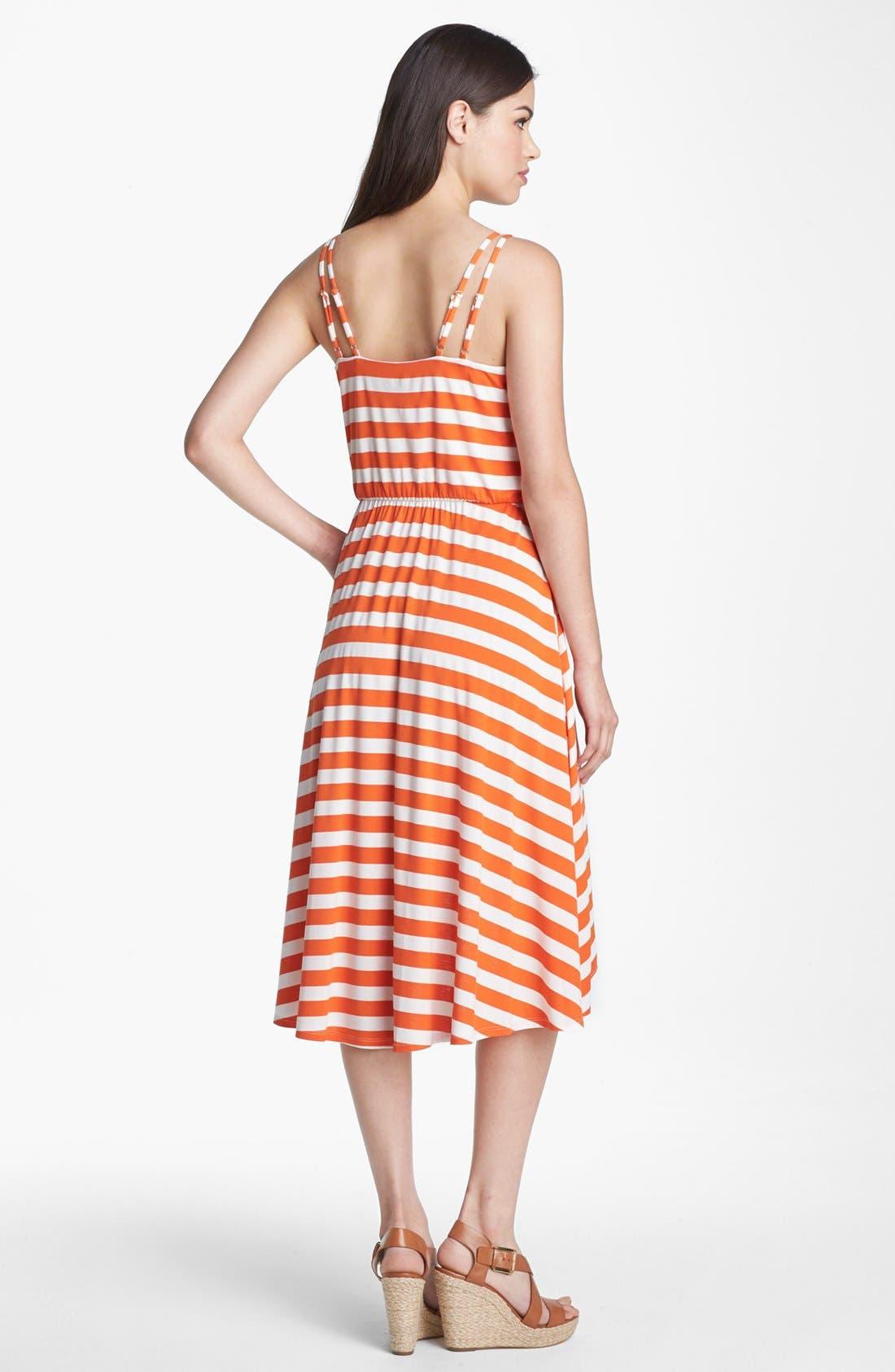 Alternate Image 2  - Vince Camuto Stripe Faux Wrap Jersey Dress