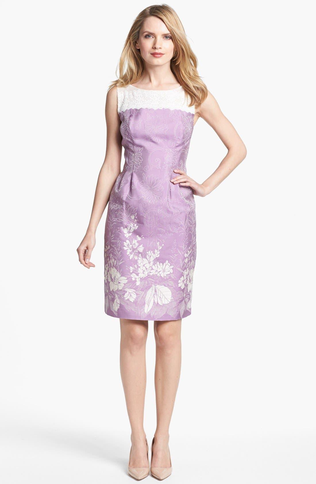 Main Image - Alex Evenings Print Sleeveless Sheath Dress