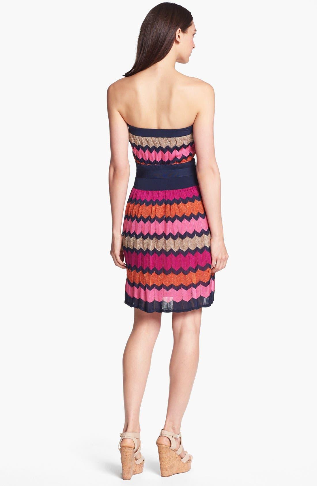 Alternate Image 2  - Laundry by Shelli Segal Strapless Knit Dress