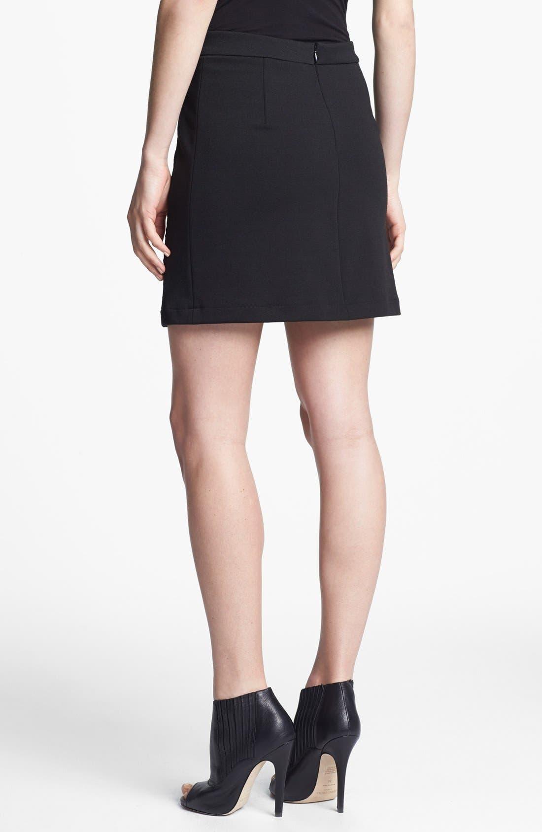 Alternate Image 2  - Robbi & Nikki Lace Panel Miniskirt