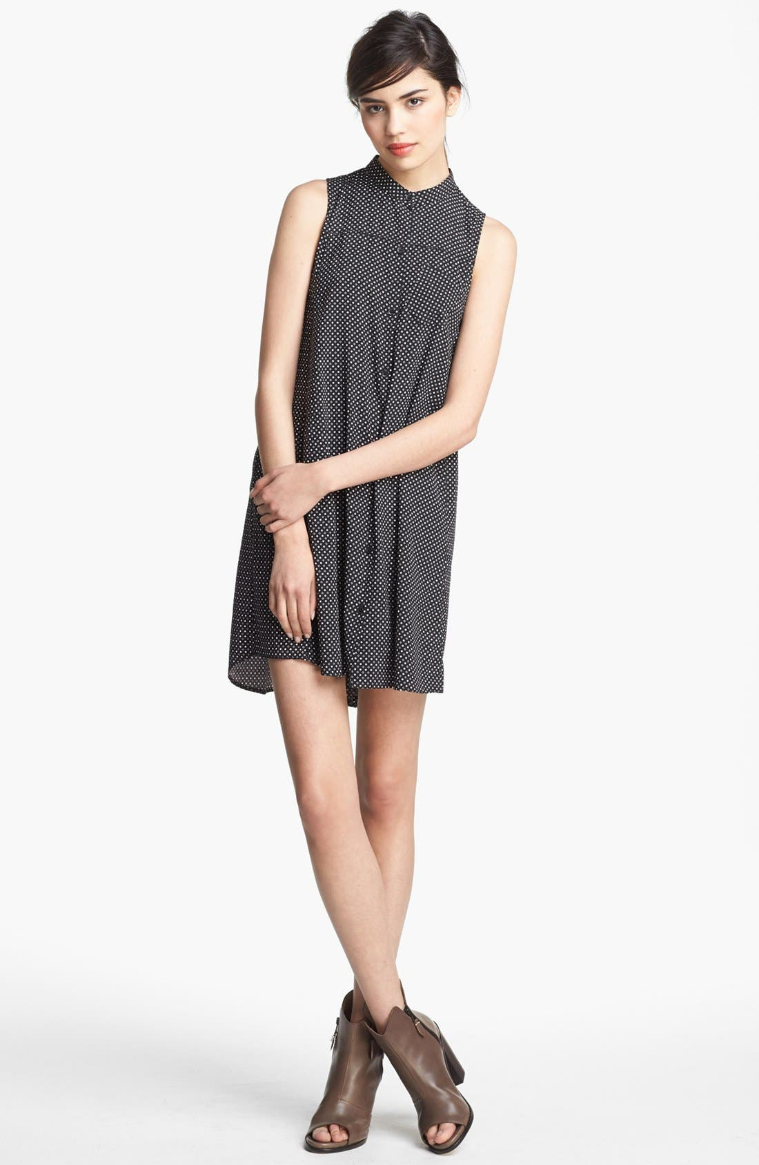 Alternate Image 1 Selected - rag & bone 'Aberdeen' Silk Shirtdress