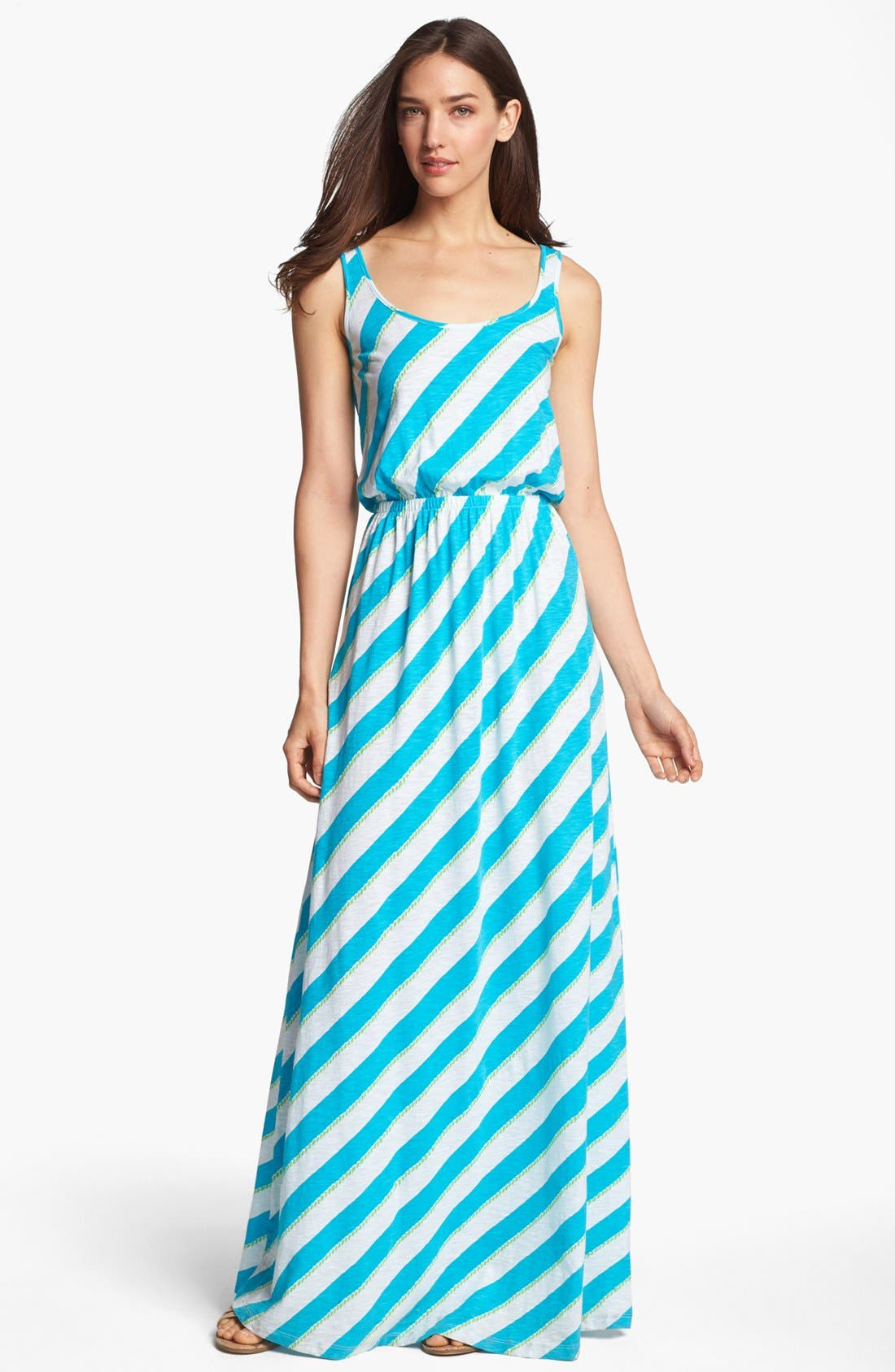 Alternate Image 1 Selected - Lilly Pulitzer® 'Tria' Stripe Cotton Maxi Dress