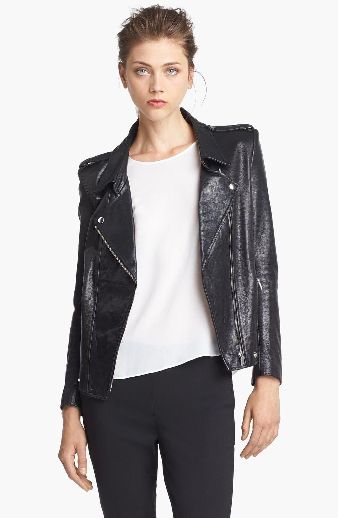 Main Image - Theyskens' Theory 'Jiker Nomi' Leather Jacket
