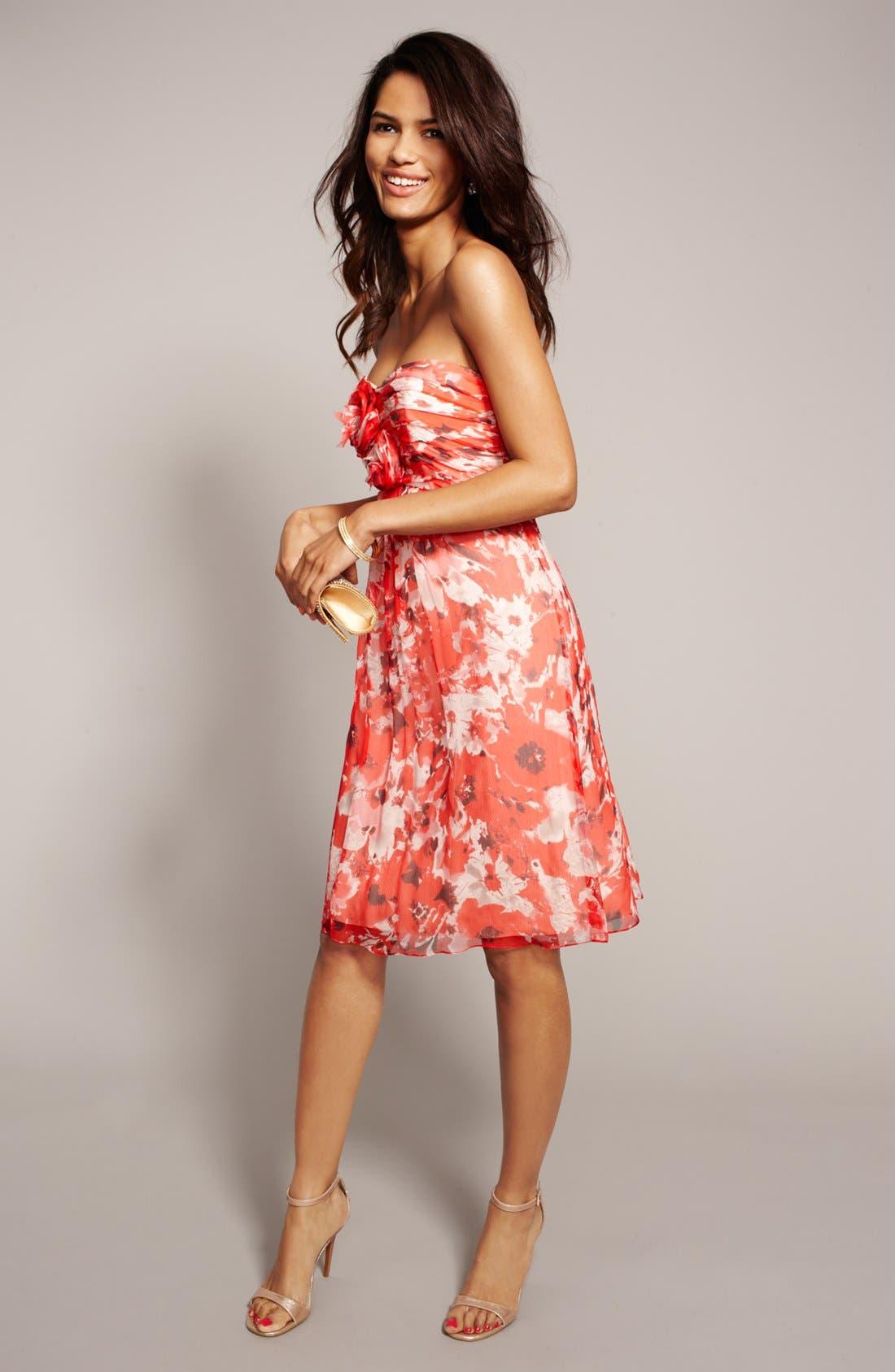 Alternate Image 4  - Amsale 'Amore' Print Silk Chiffon Dress