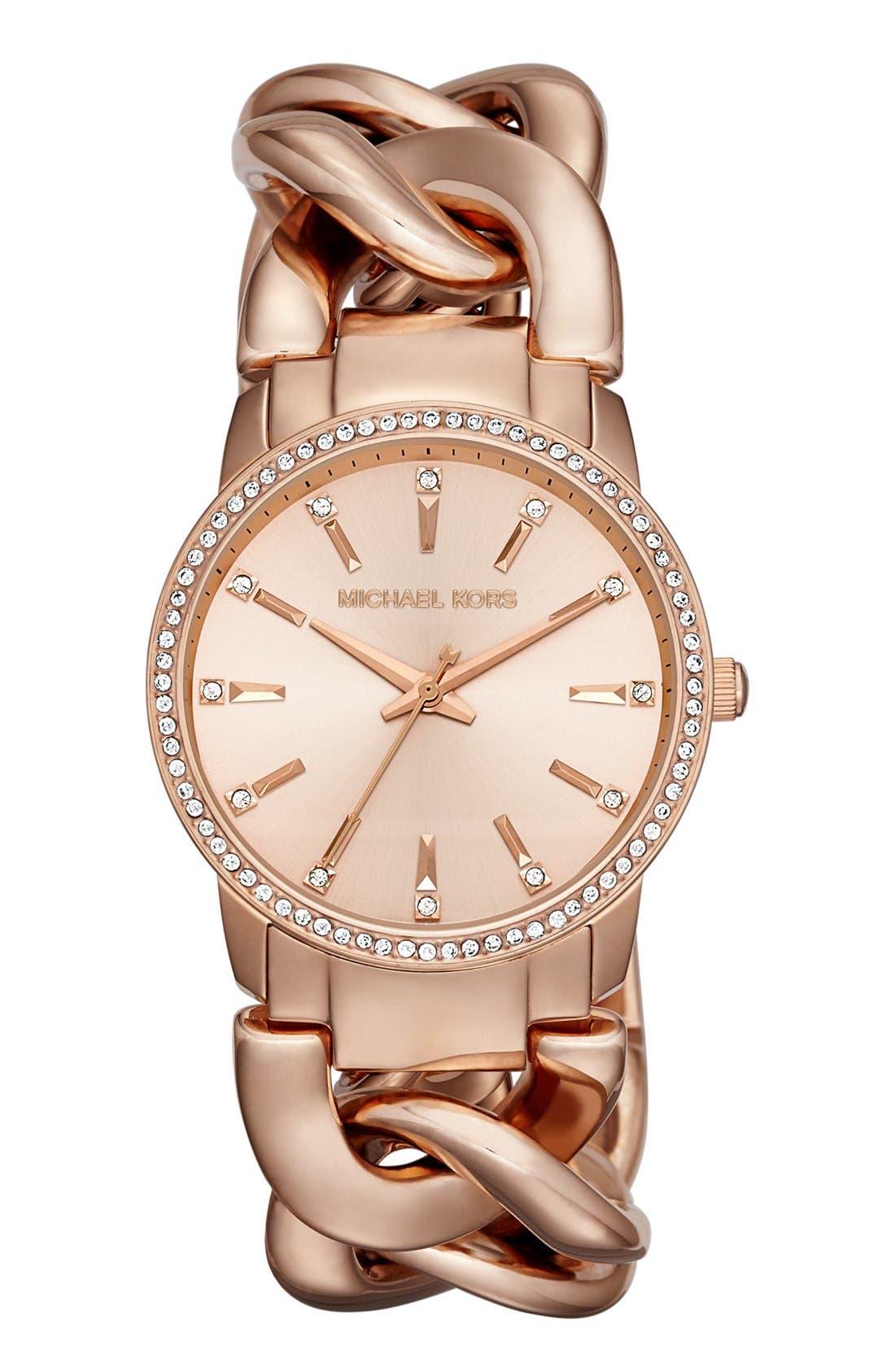 Alternate Image 1 Selected - Michael Kors 'Lady Nini' Chain Link Bracelet Watch, 35mm