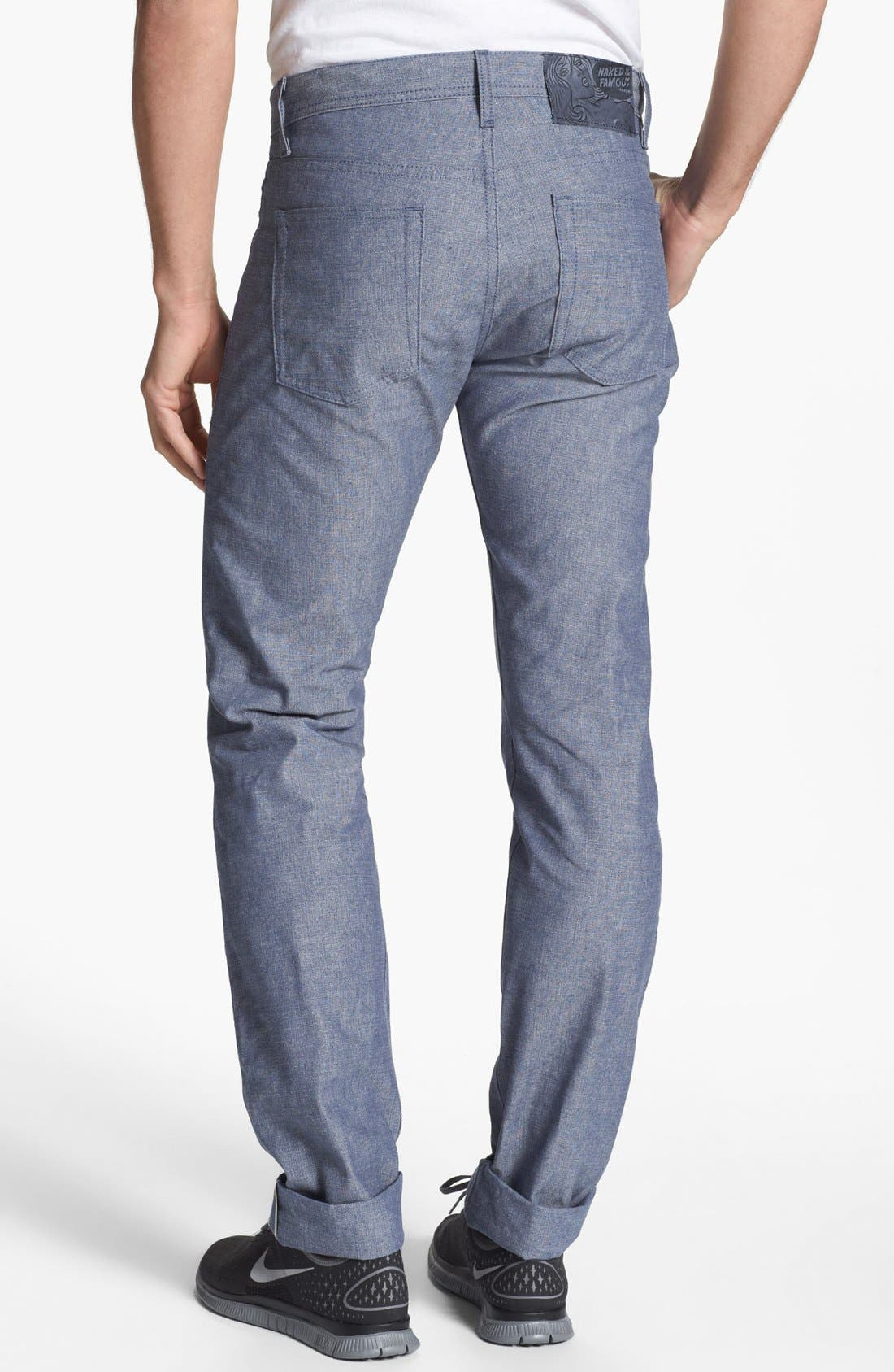 Alternate Image 1 Selected - Naked & Famous Denim 'Weird Guy' Slim Tapered Leg Jeans (Classic Blue)