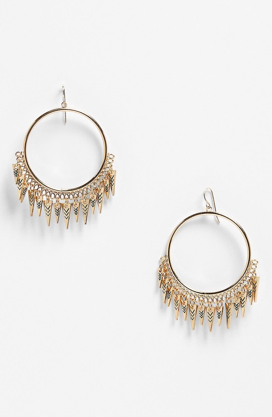 Alternate Image 1 Selected - Devan 'Free Spirit' Hoop Earrings