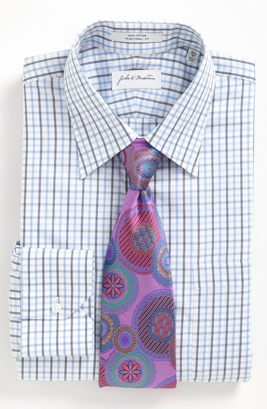 Alternate Image 3  - John W. Nordstrom Traditional Fit Dress Shirt