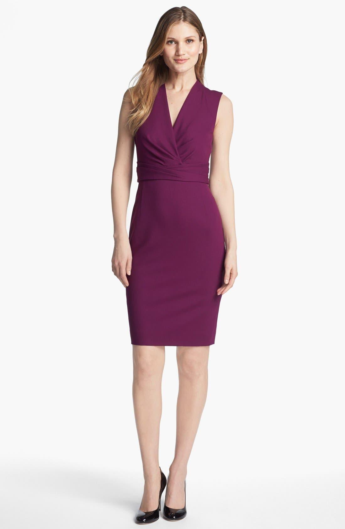 Alternate Image 1 Selected - Classiques Entier® Italian Ponte Surplice Dress