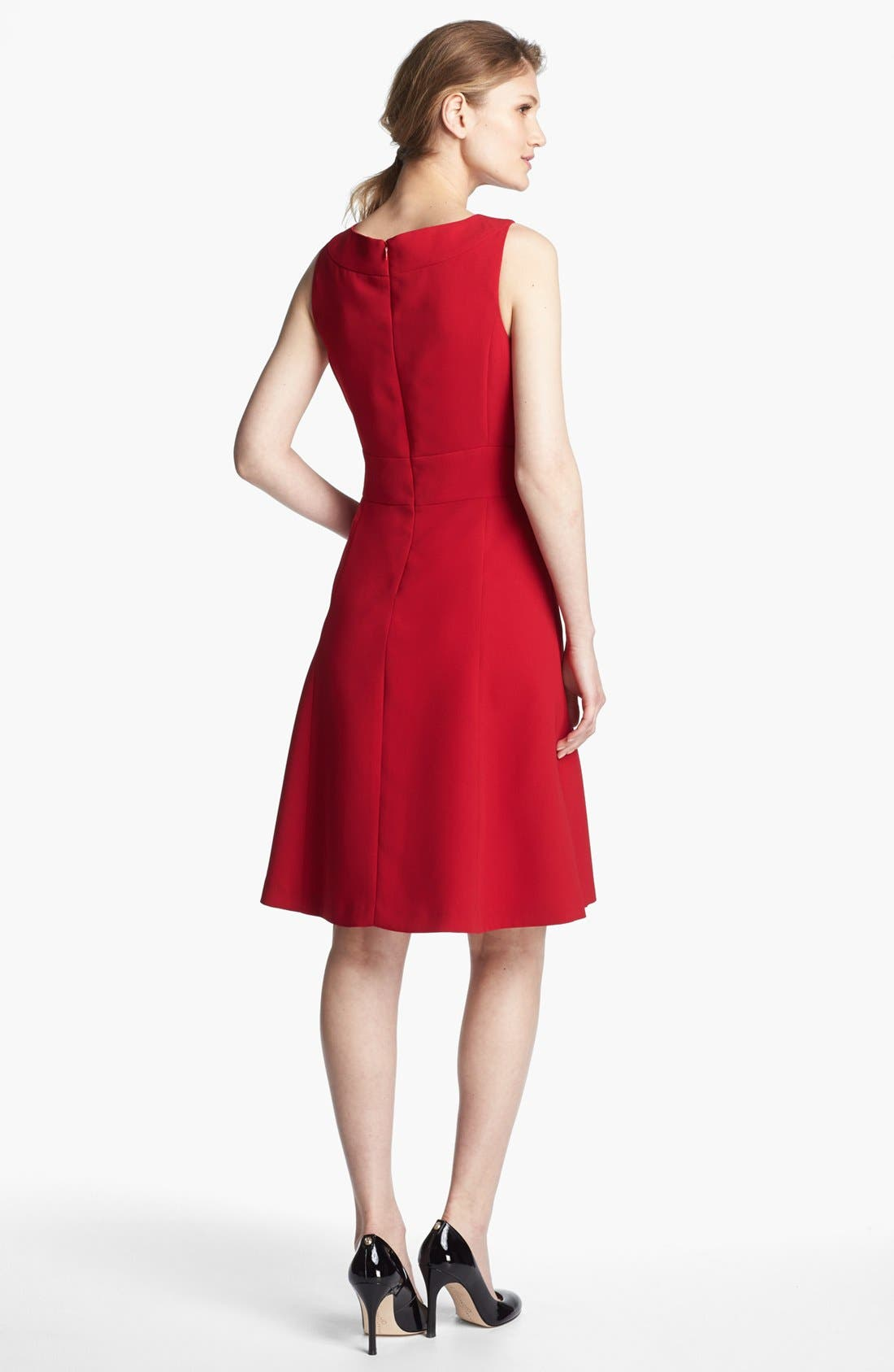 Alternate Image 2  - Tahari Fit & Flare Dress  (Regular & Petite) (Regular Sizes Online Only)
