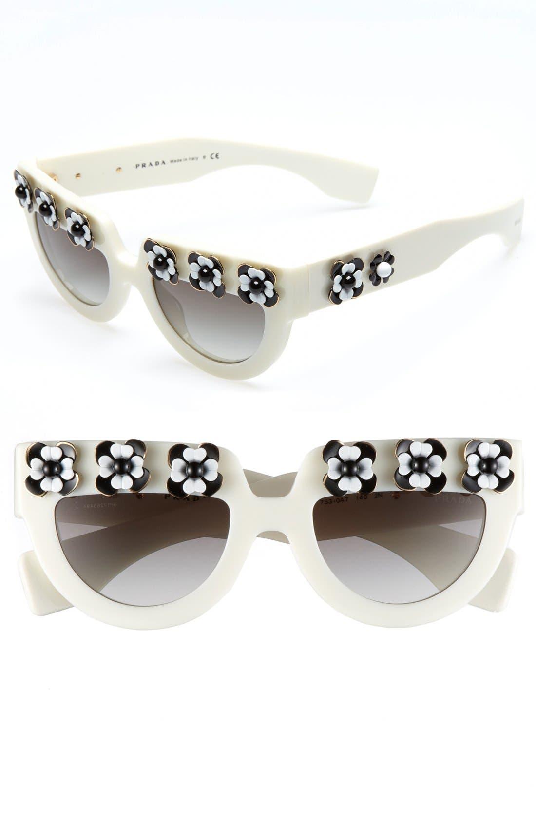Alternate Image 1 Selected - Prada 'Irregular Flowers' 50mm Sunglasses