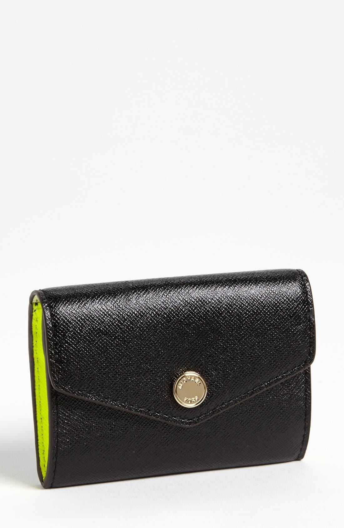 Main Image - MICHAEL Michael Kors Saffiano Leather Coin Purse