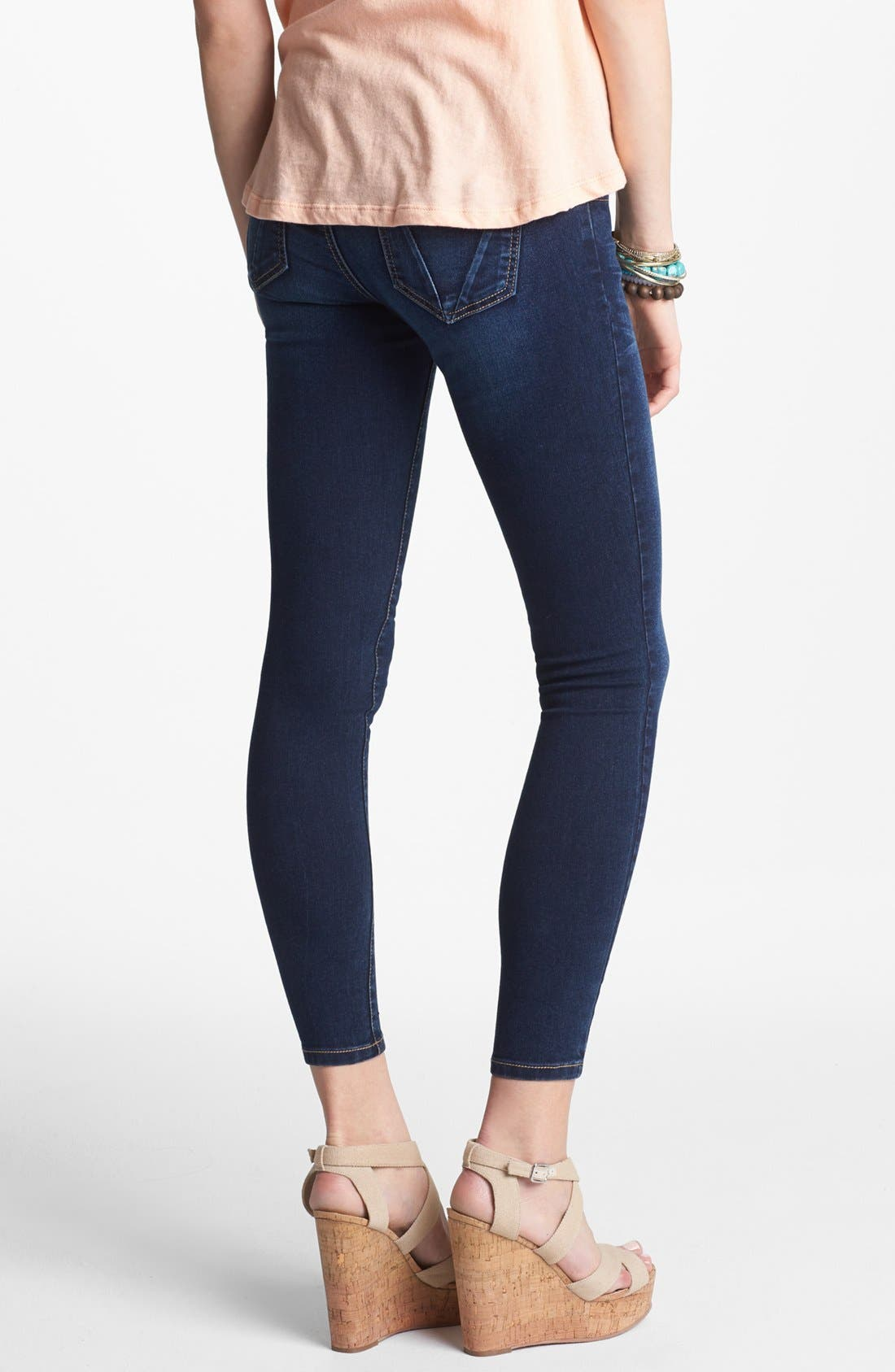 Alternate Image 2  - See Thru Soul 'State Beach' Skinny Jeans (Medium) (Juniors)