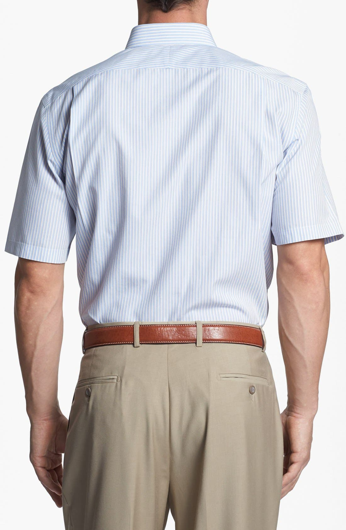 Alternate Image 4  - Nordstrom Smartcare™ Wrinkle Free Traditional Fit Short Sleeve Dress Shirt (Online Only)