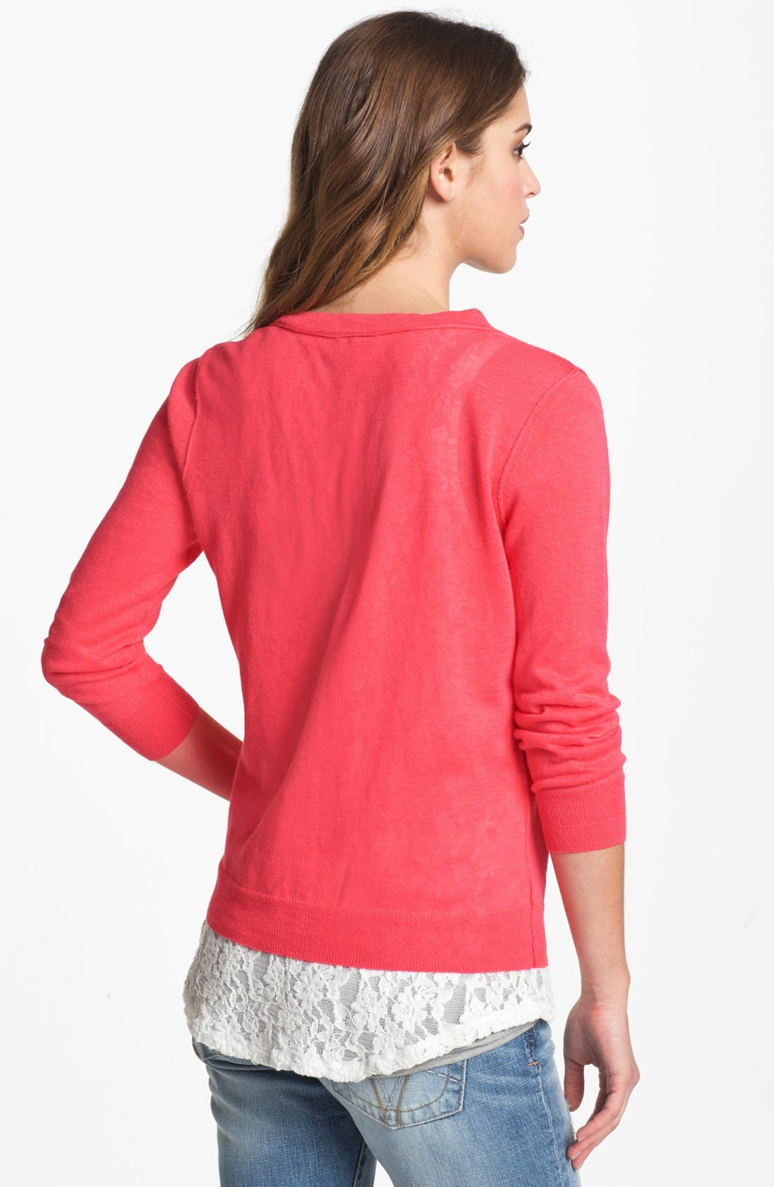 Alternate Image 2  - Caslon® V-Neck Cardigan