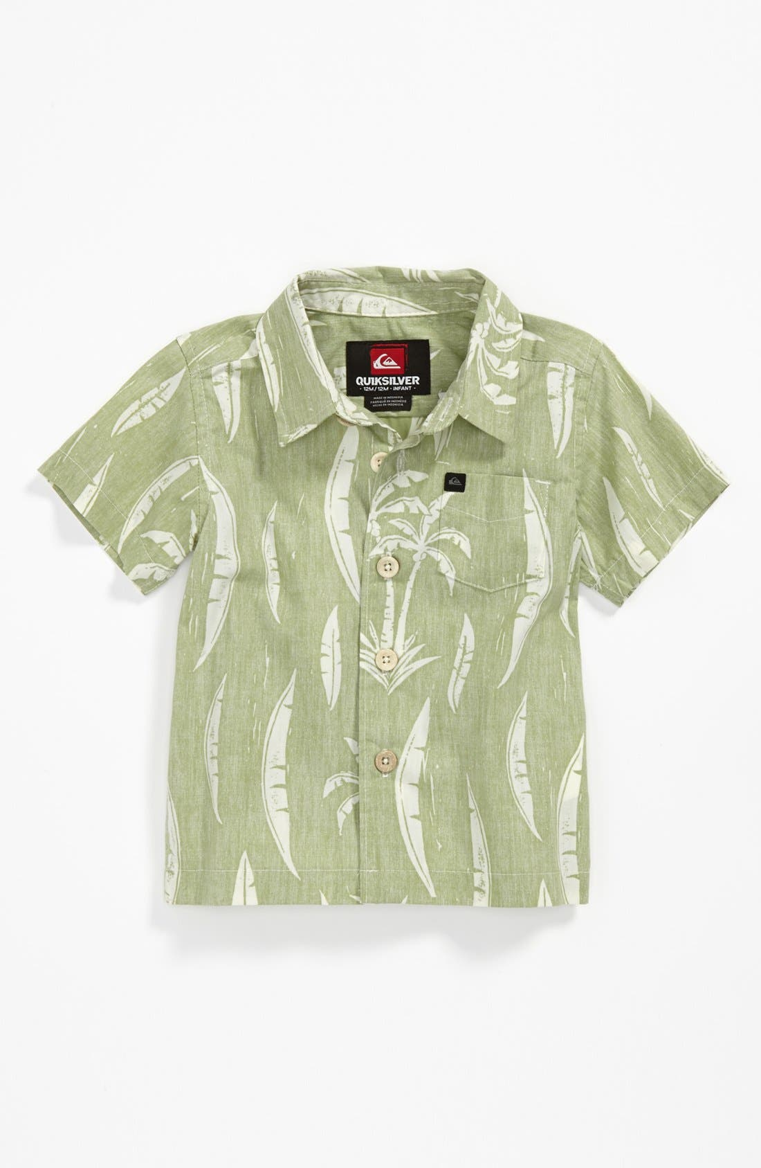 Alternate Image 1 Selected - Quiksilver 'Vagabundos' Woven Shirt (Baby Boys)