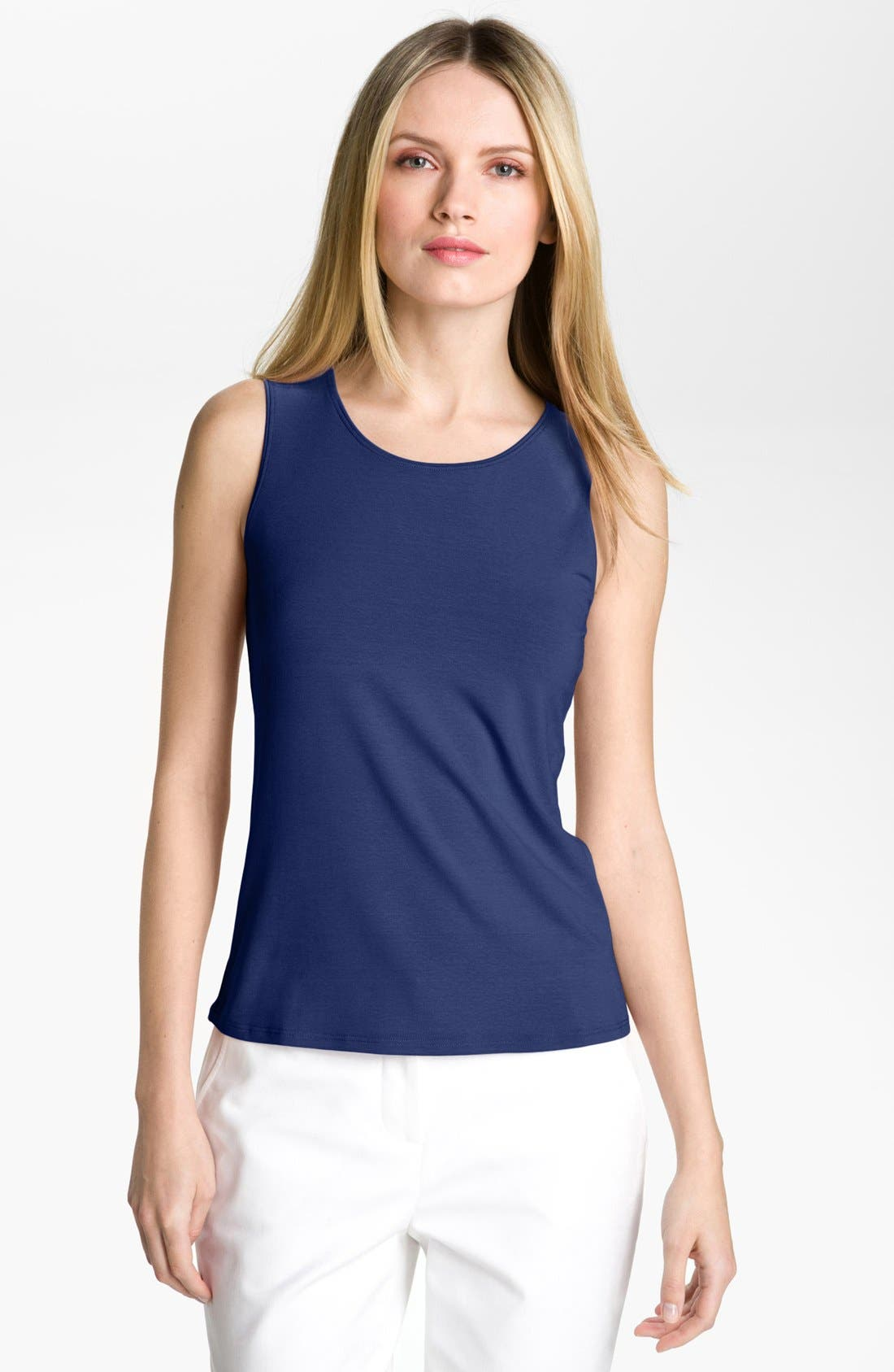 Alternate Image 1 Selected - Eileen Fisher Scoop Neck Tank (Petite)