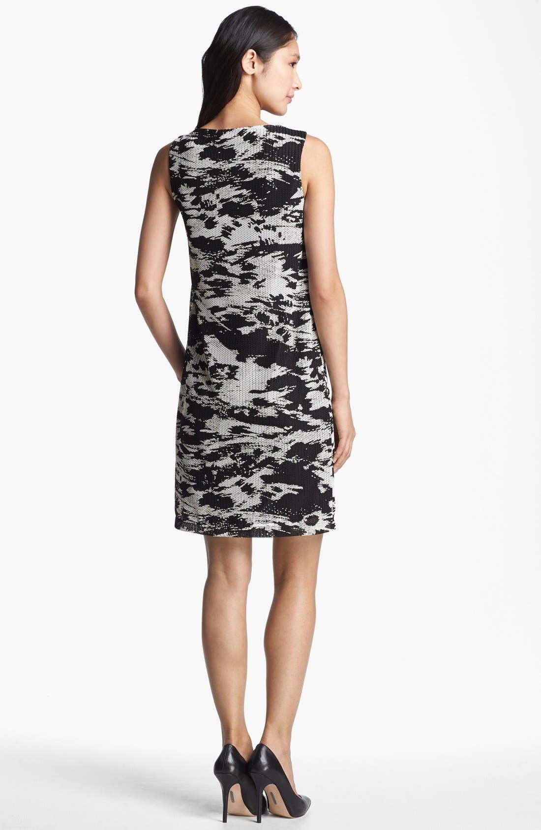 Alternate Image 2  - Isaac Mizrahi New York Two Tone Sheath Dress