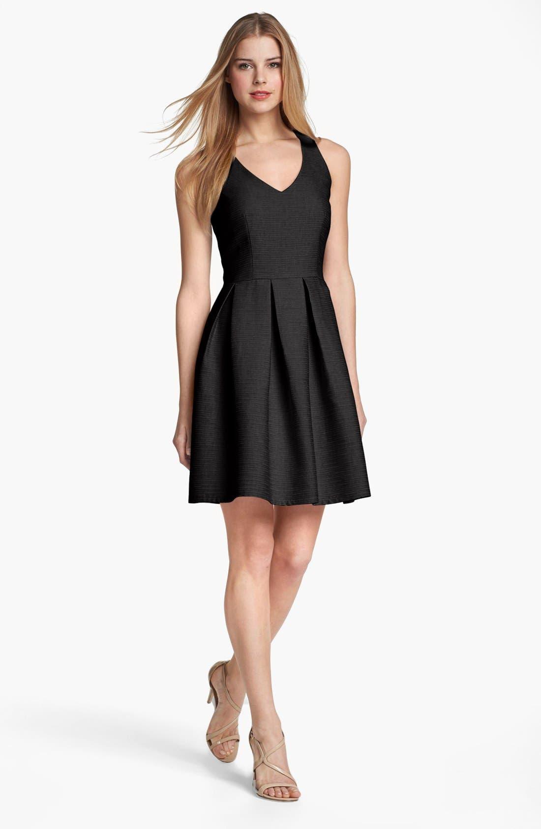 Main Image - Taylor Dresses Cutout Detail Fit & Flare Dress