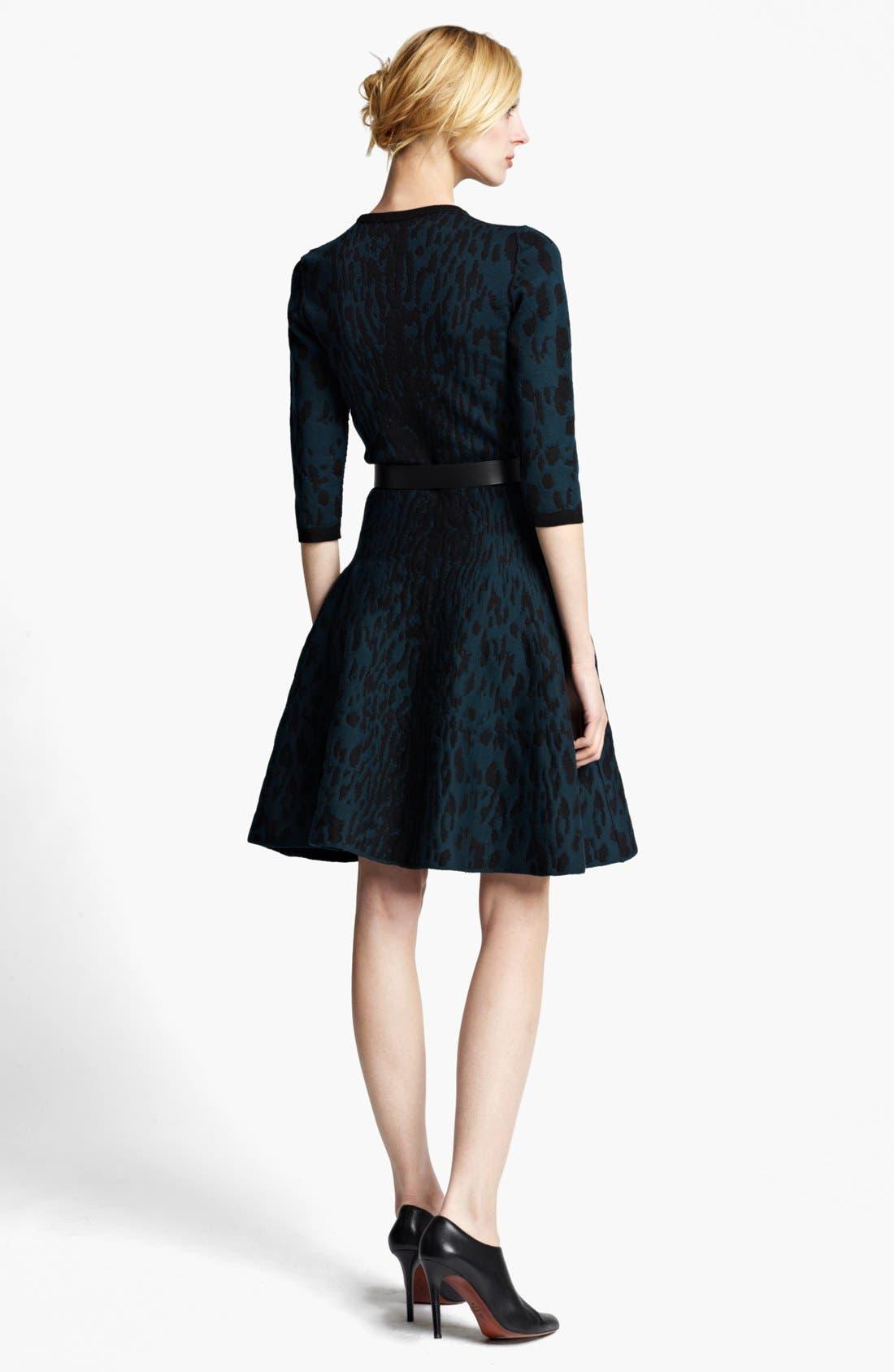 Alternate Image 2  - Lanvin Full Skirt Leopard Jacquard Dress