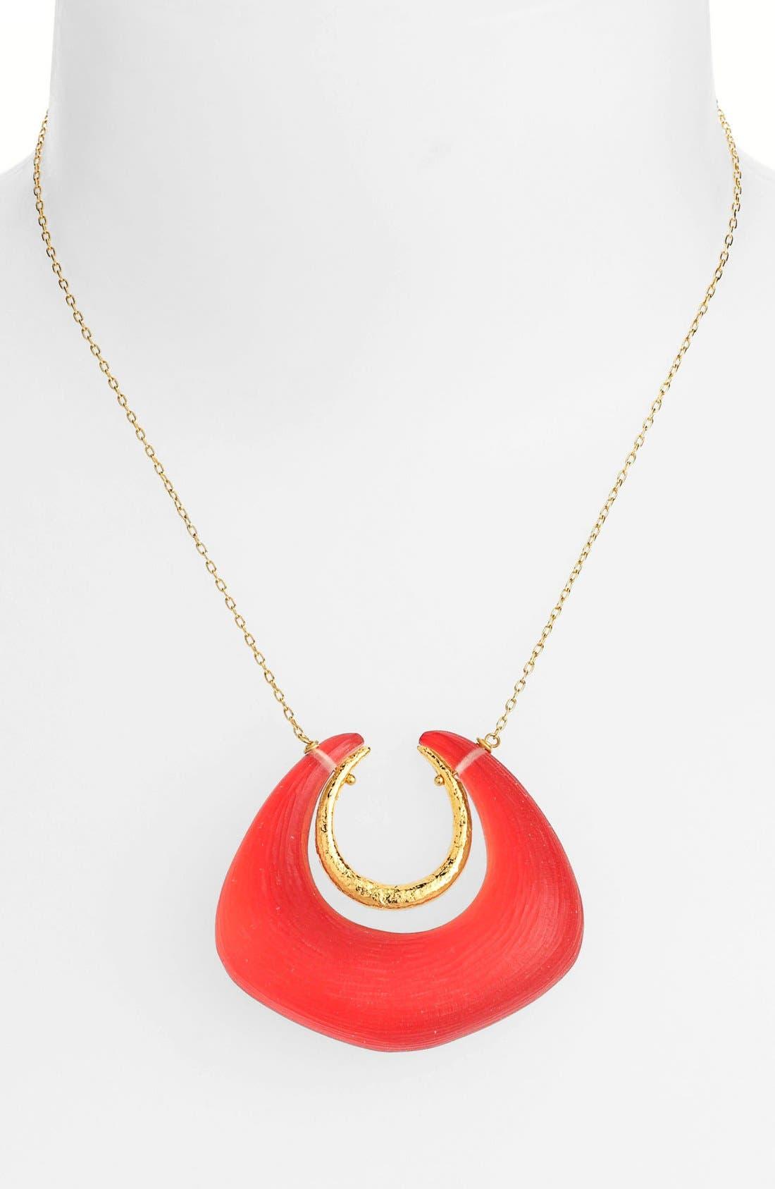 Main Image - Alexis Bittar 'Lucite®' Angled Horseshoe Pendant Necklace