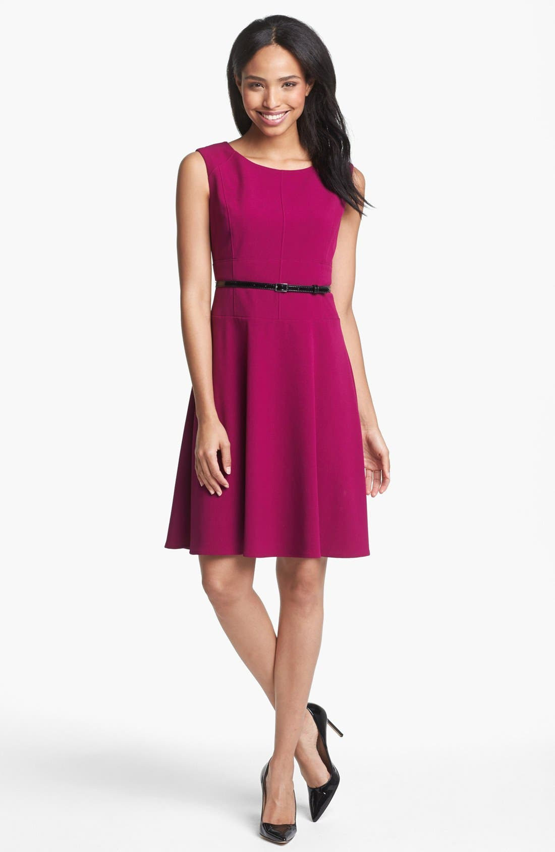 Main Image - Marc New York by Andrew Marc Seamed Fit & Flare Dress