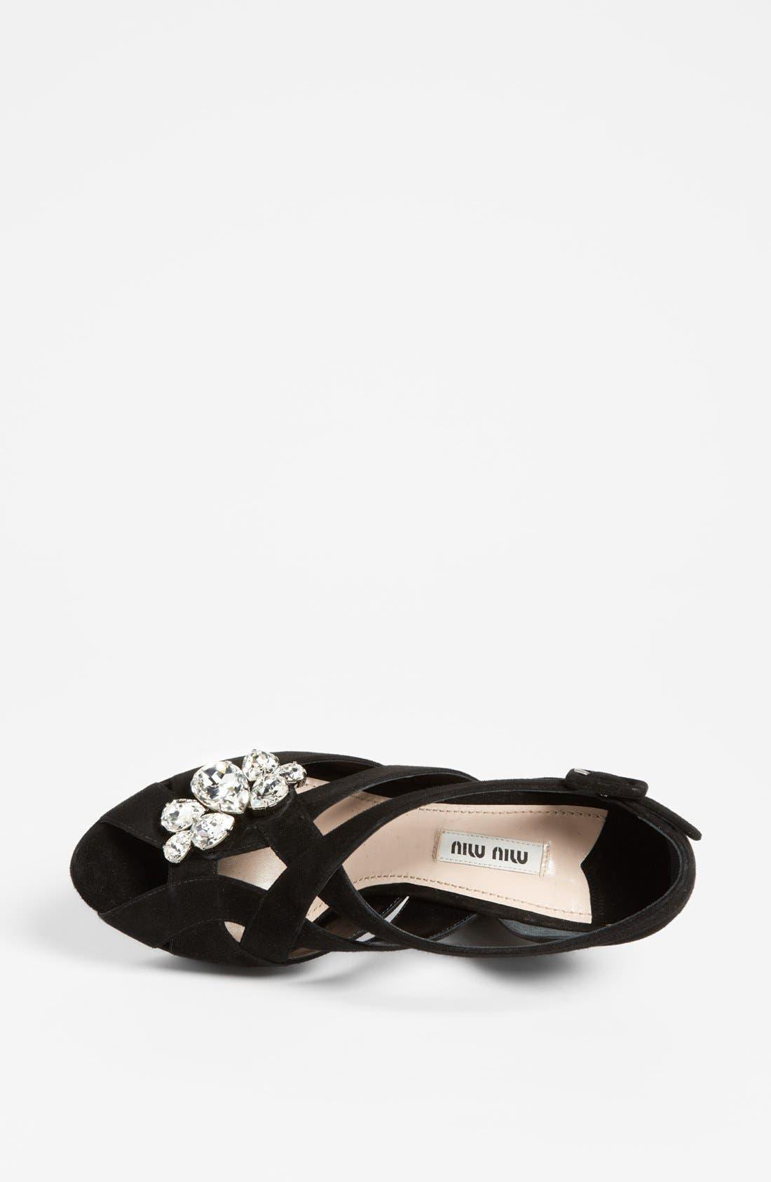 Alternate Image 3  - Miu Miu Jewel Platform Sandal