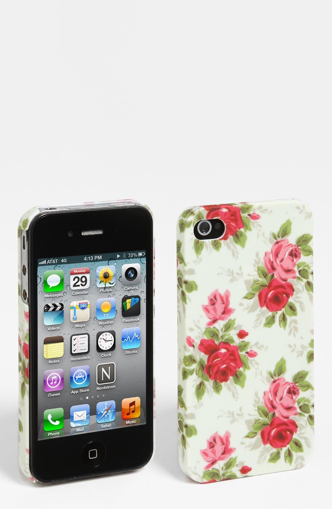 Main Image - BP. Floral iPhone 4 Case (Juniors)