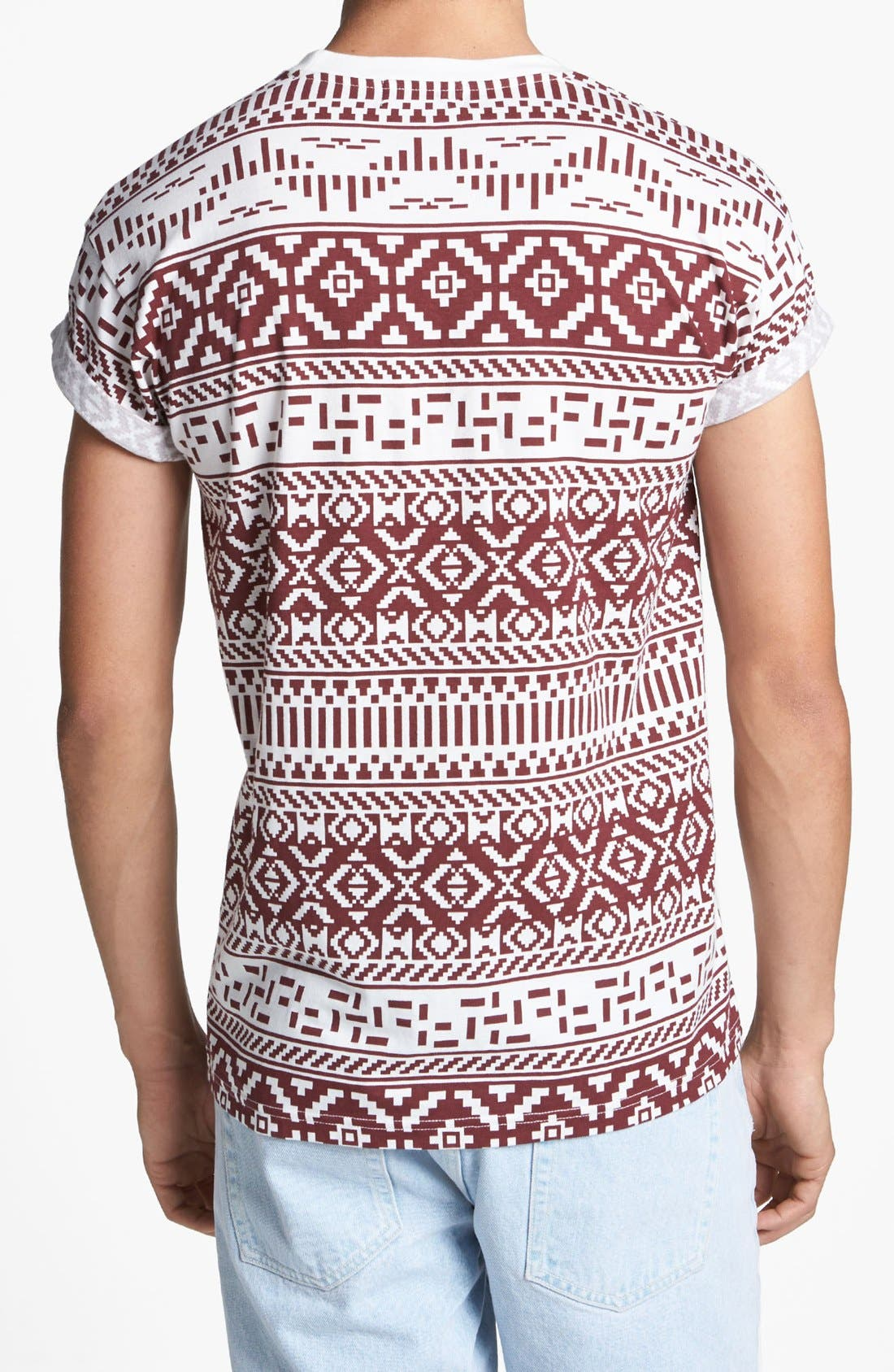 Alternate Image 2  - Topman Pattern Print T-Shirt