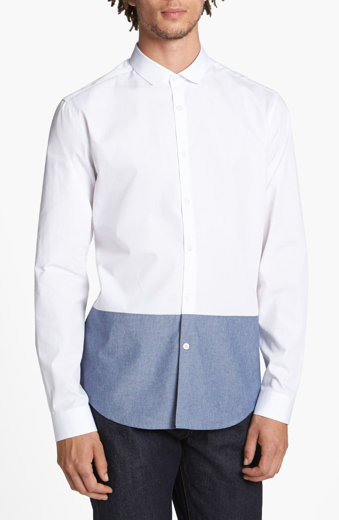 Alternate Image 1 Selected - Topman 'Smart' Slim Fit Contrast Dress Shirt