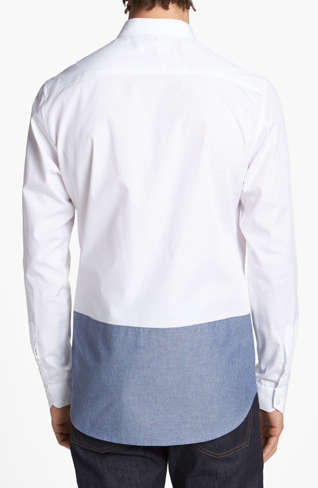 Alternate Image 2  - Topman 'Smart' Slim Fit Contrast Dress Shirt