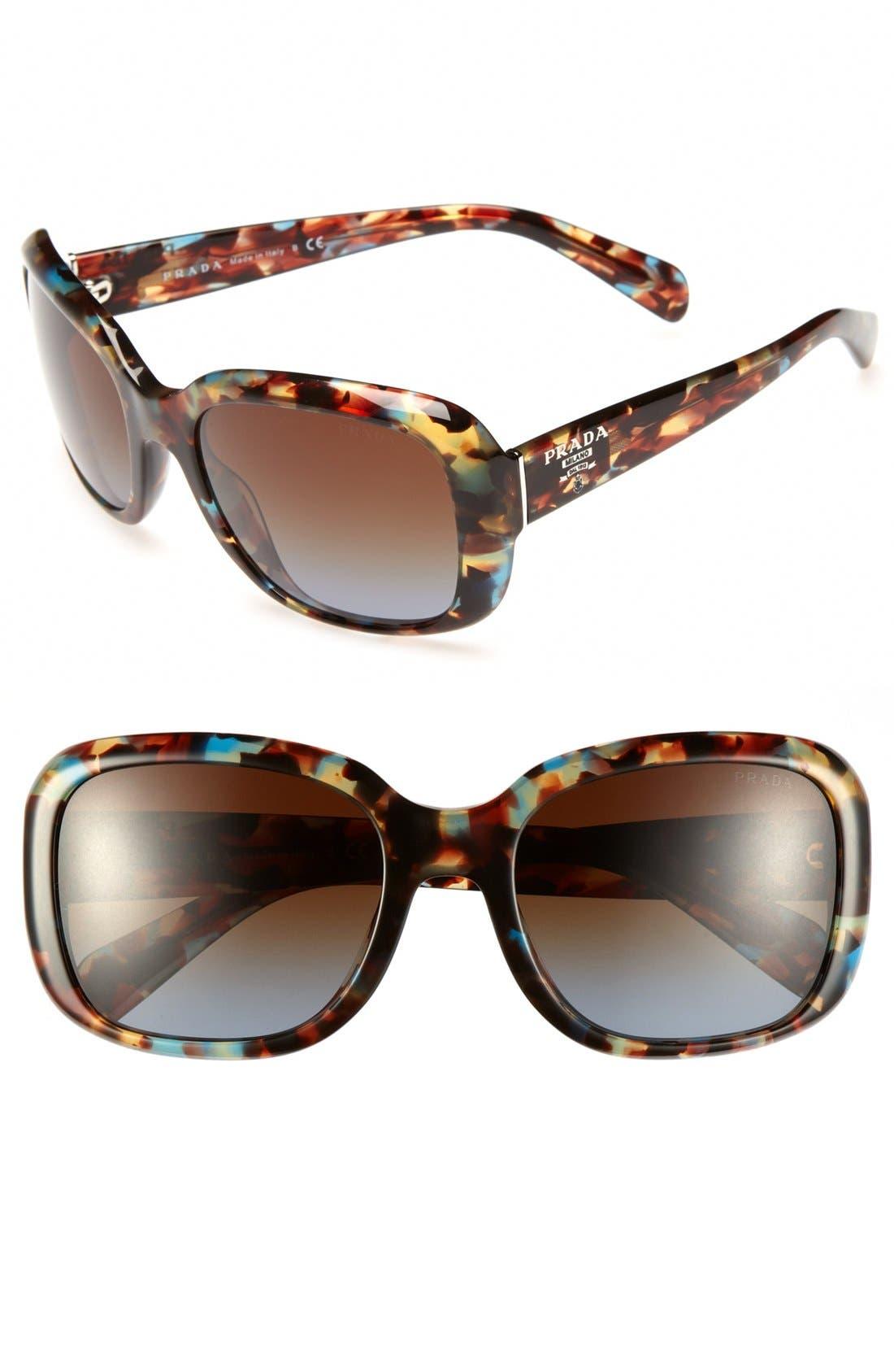 Main Image - Prada 'Oversized Glam' 57mm Sunglasses