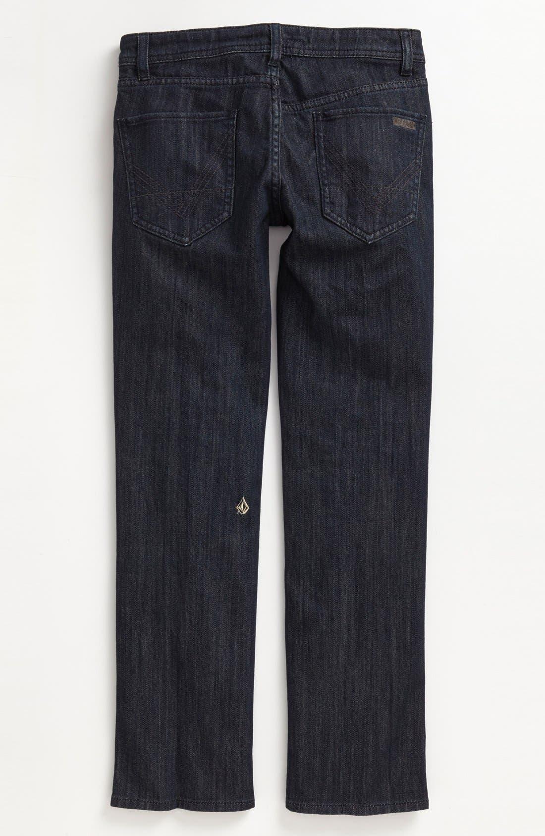 Alternate Image 1 Selected - Volcom 'Nova' Straight Leg Jeans (Big Boys)