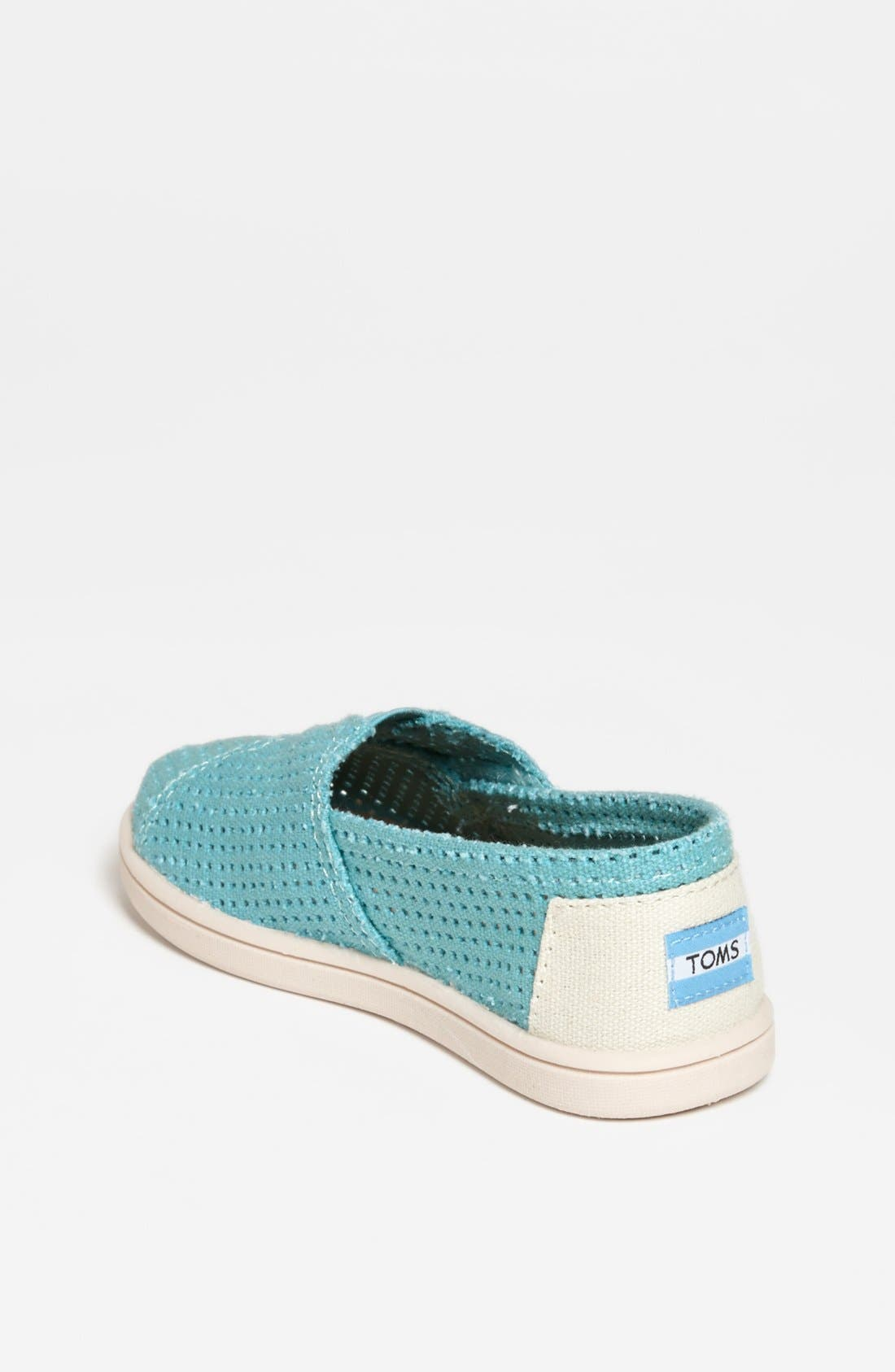 Alternate Image 2  - TOMS 'Classic - Tiny' Perforated Slip-On (Baby, Walker & Toddler)