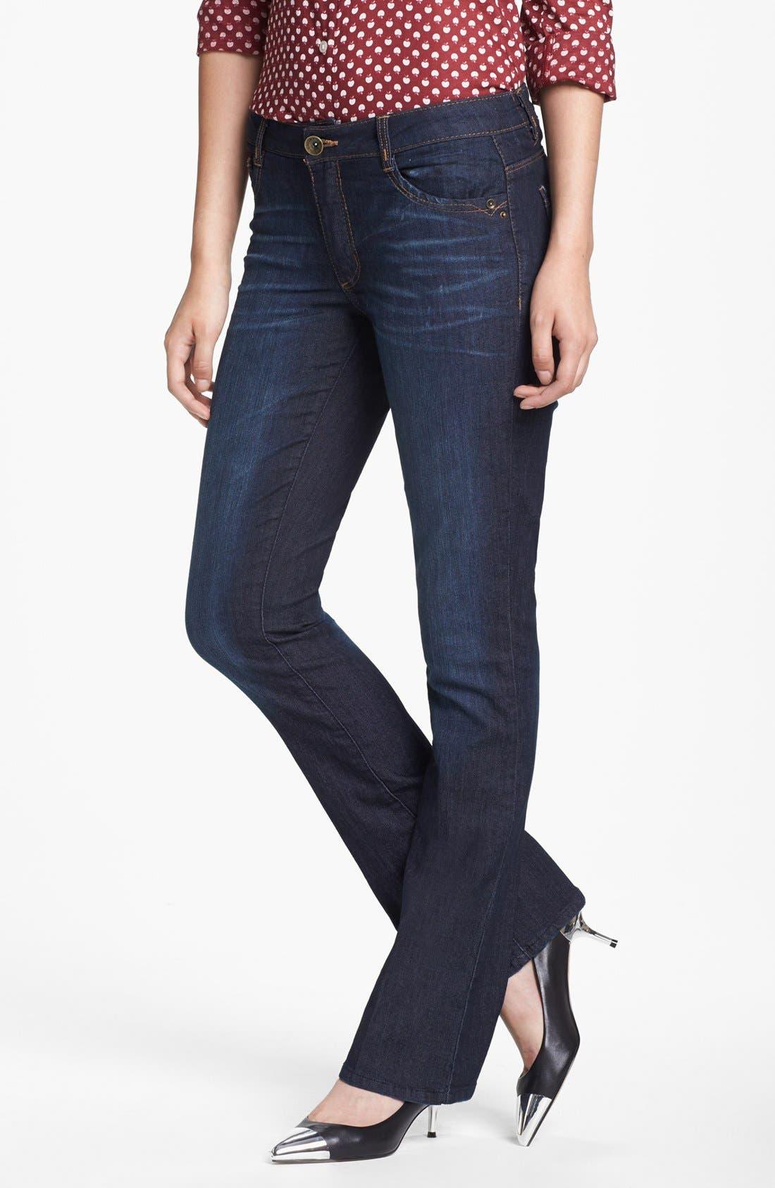 Alternate Image 1  - Wit & Wisdom 'Itty Bitty' Bootcut Jeans (Indigo) (Nordstrom Exclusive)