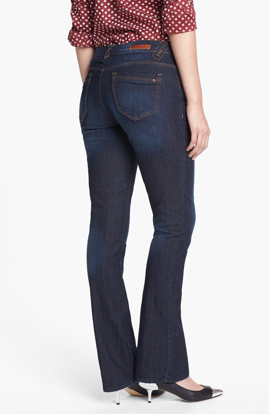 Alternate Image 2  - Wit & Wisdom 'Itty Bitty' Bootcut Jeans (Indigo) (Nordstrom Exclusive)