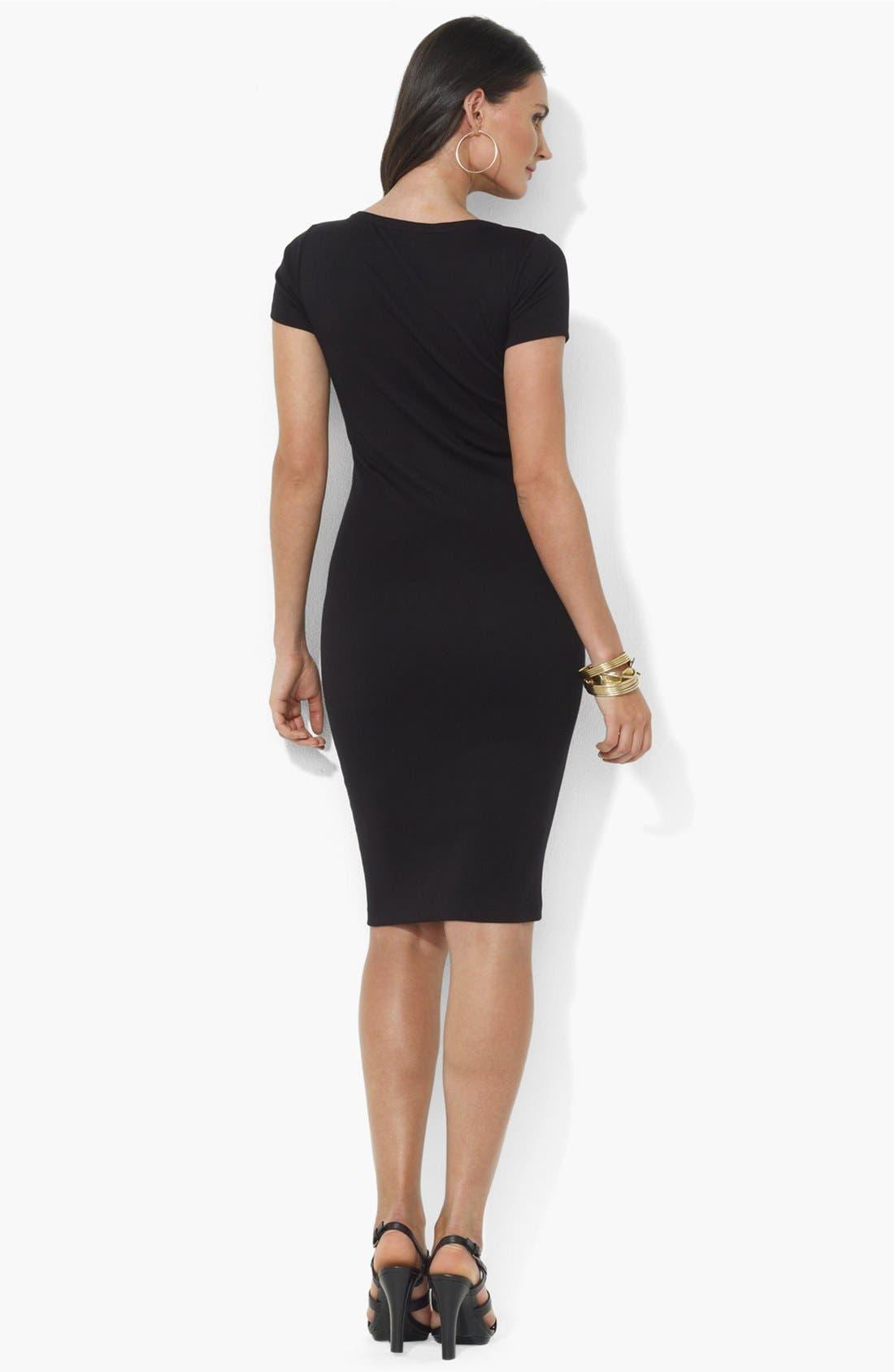 Alternate Image 2  - Lauren Ralph Lauren Embroidered Scoop Neck Henley Dress