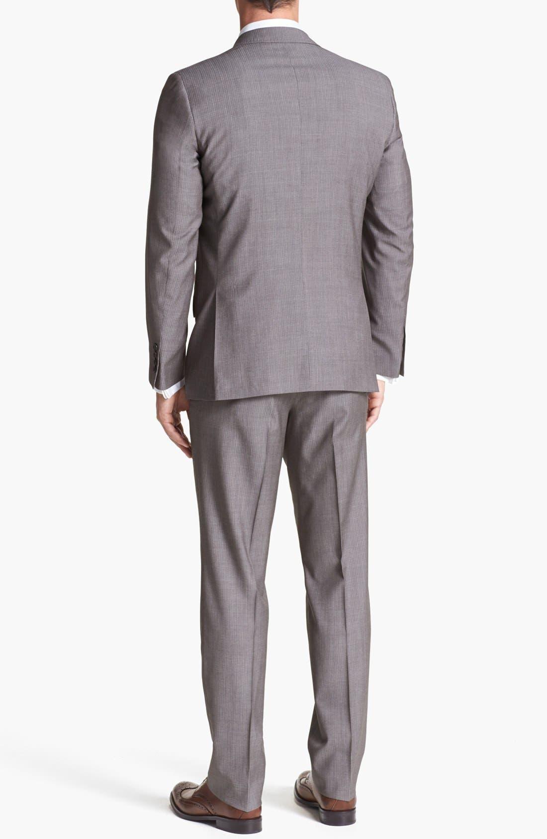 Alternate Image 3  - Ted Baker London 'Jim' Tan Herringbone Wool Suit