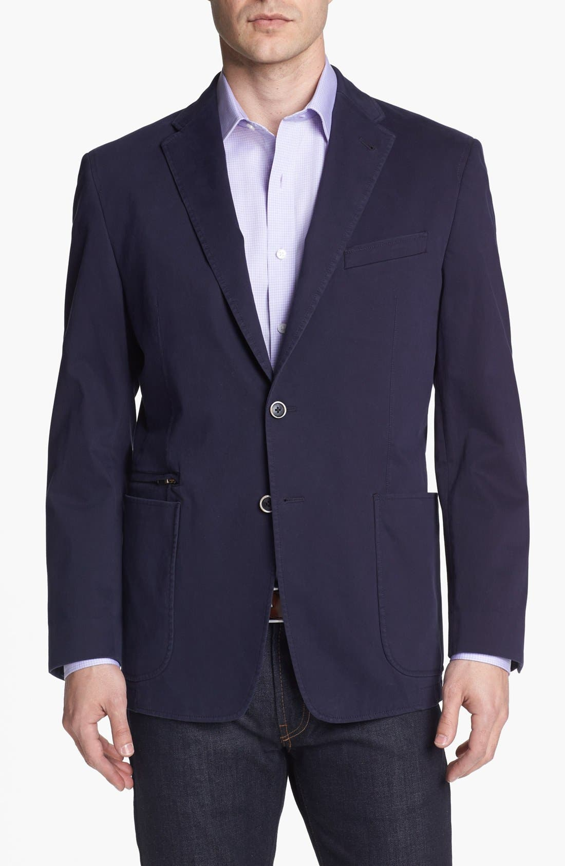 Alternate Image 1 Selected - Joseph Abboud Cotton Sportcoat