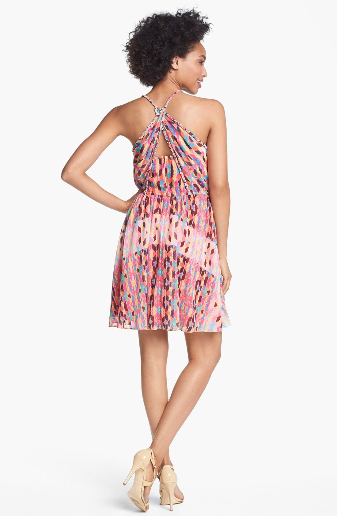 Alternate Image 2  - Jessica Simpson Print Pintucked Chiffon Dress