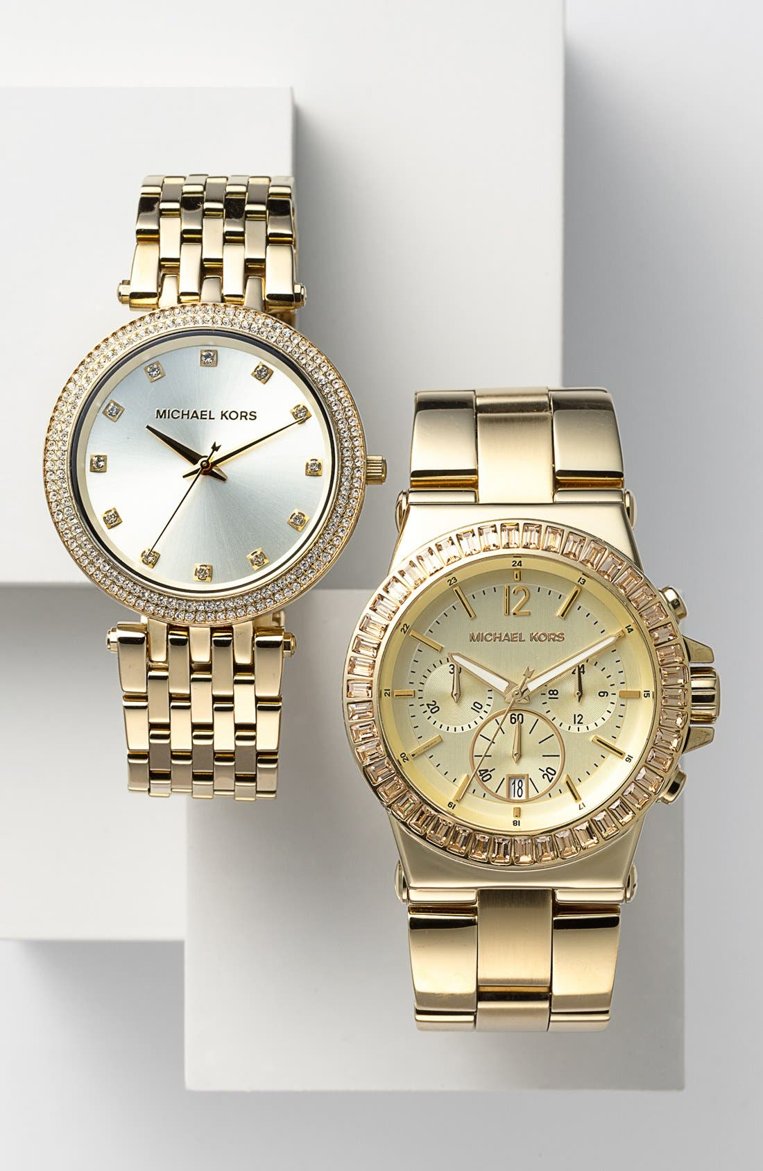 Alternate Image 4  - Michael Kors 'Dylan' Crystal Bezel Chronograph Watch, 43mm