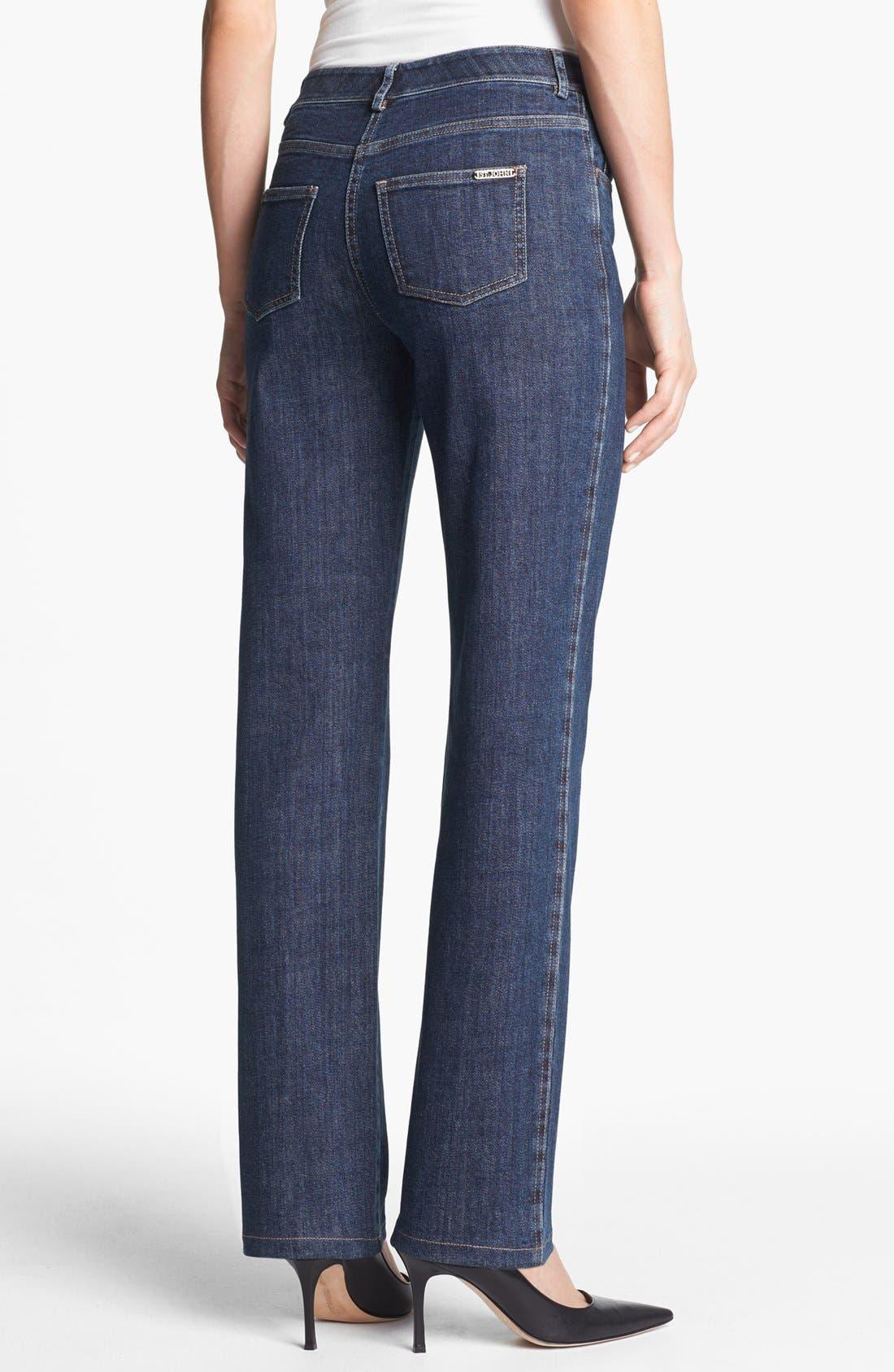 Alternate Image 2  - St. John Yellow Label 'Marie' Straight Leg Stretch Jeans