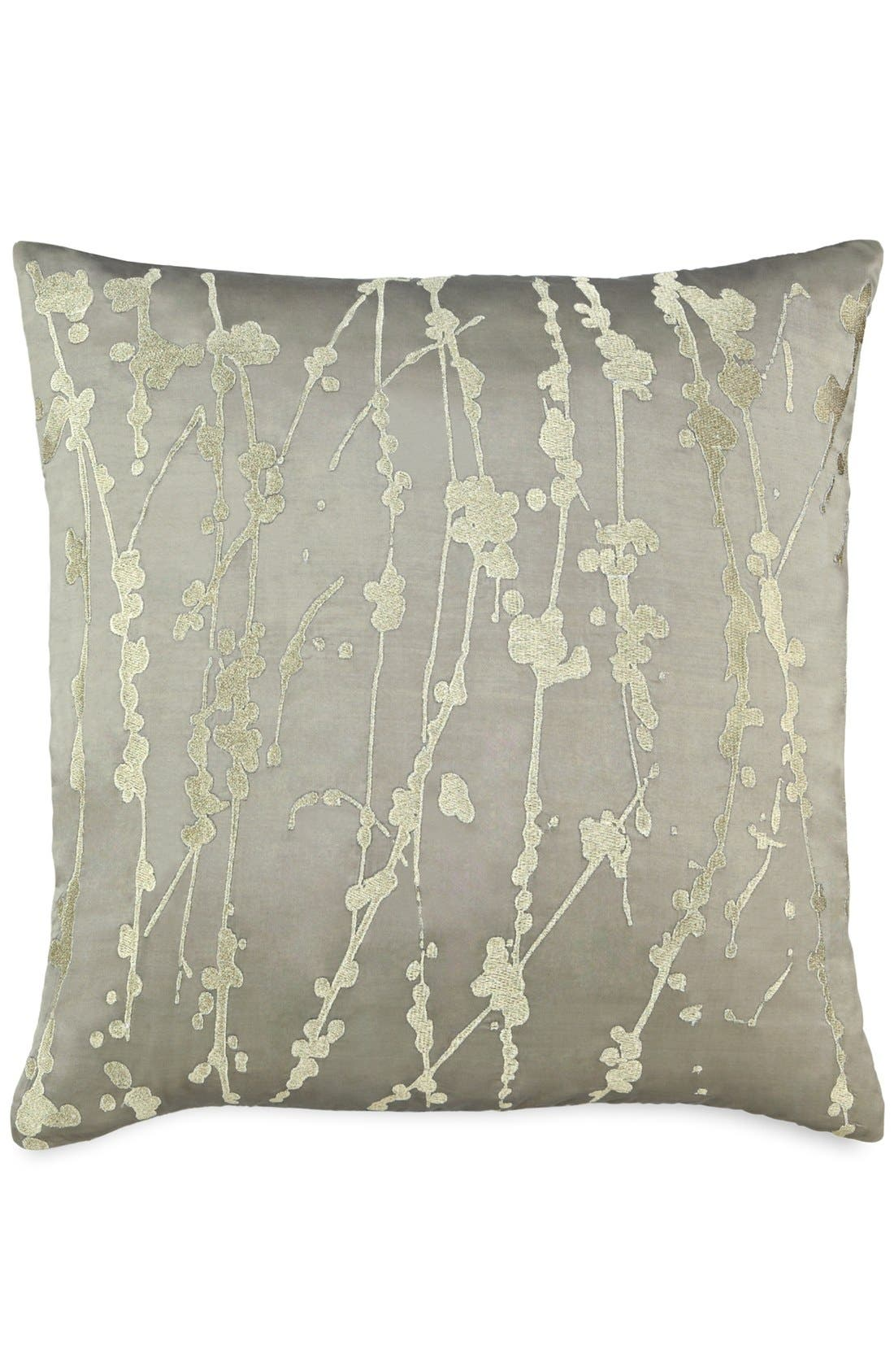 Alternate Image 1 Selected - Donna Karan Metallic Embroidered Silk Pillow (Online Only)