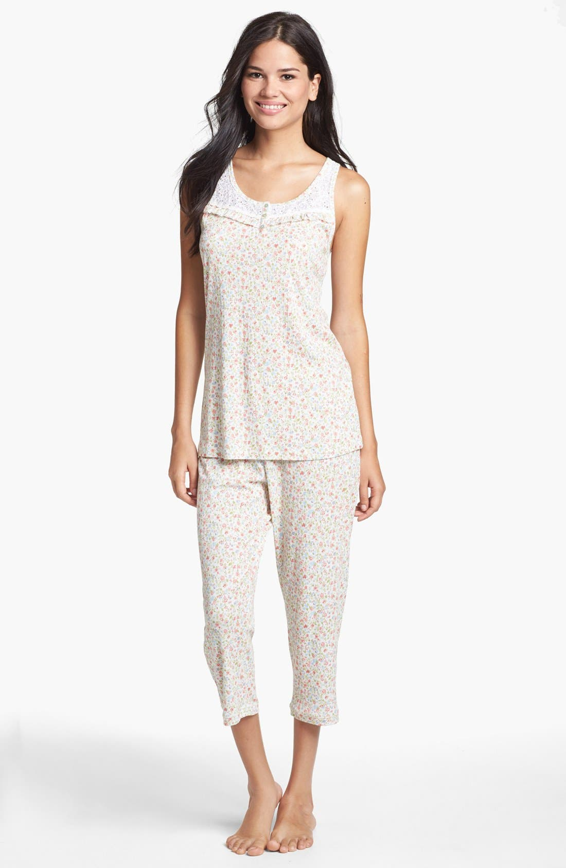 Alternate Image 1 Selected - Carole Hochman Designs 'Liberty Floral' Capri Pajamas