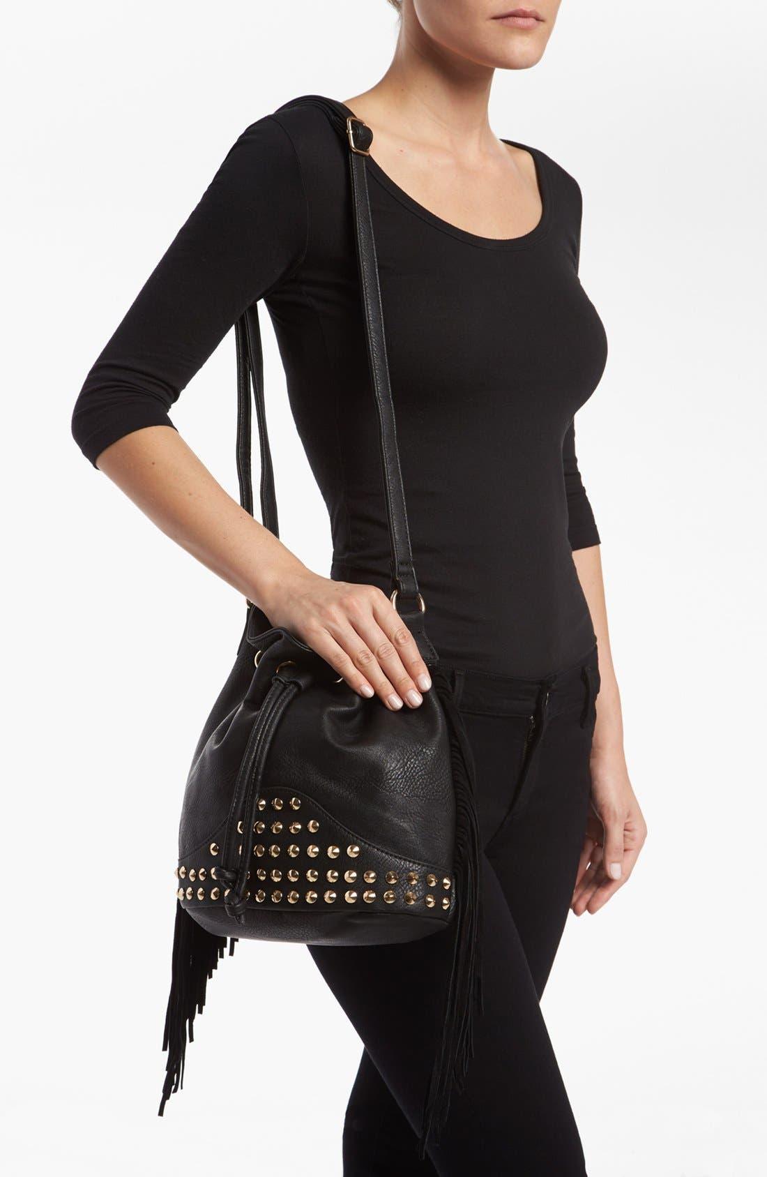 Alternate Image 2  - Street Level Fringe Shoulder Bag
