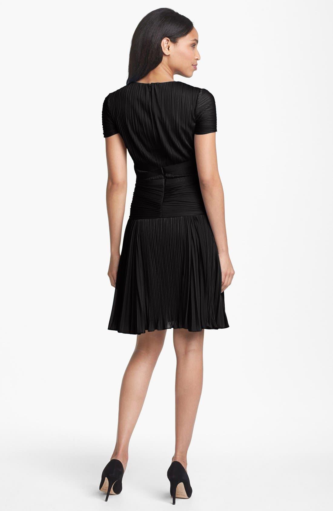 Alternate Image 2  - Halston Heritage Pleat Drop Waist A-Line Dress