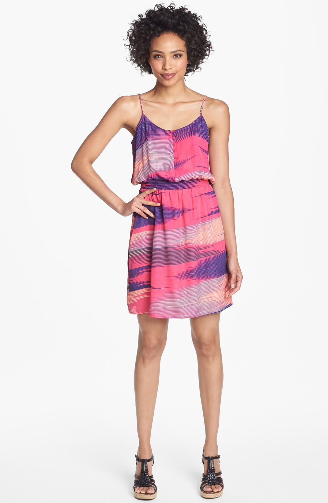 Alternate Image 1 Selected - Collective Concepts Print Blouson Dress