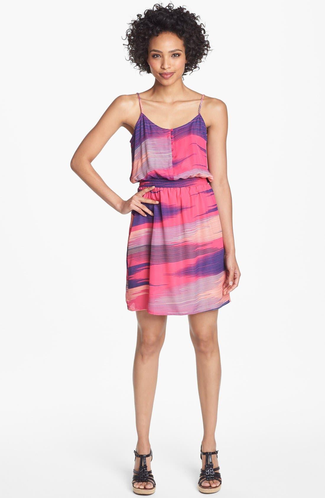 Main Image - Collective Concepts Print Blouson Dress