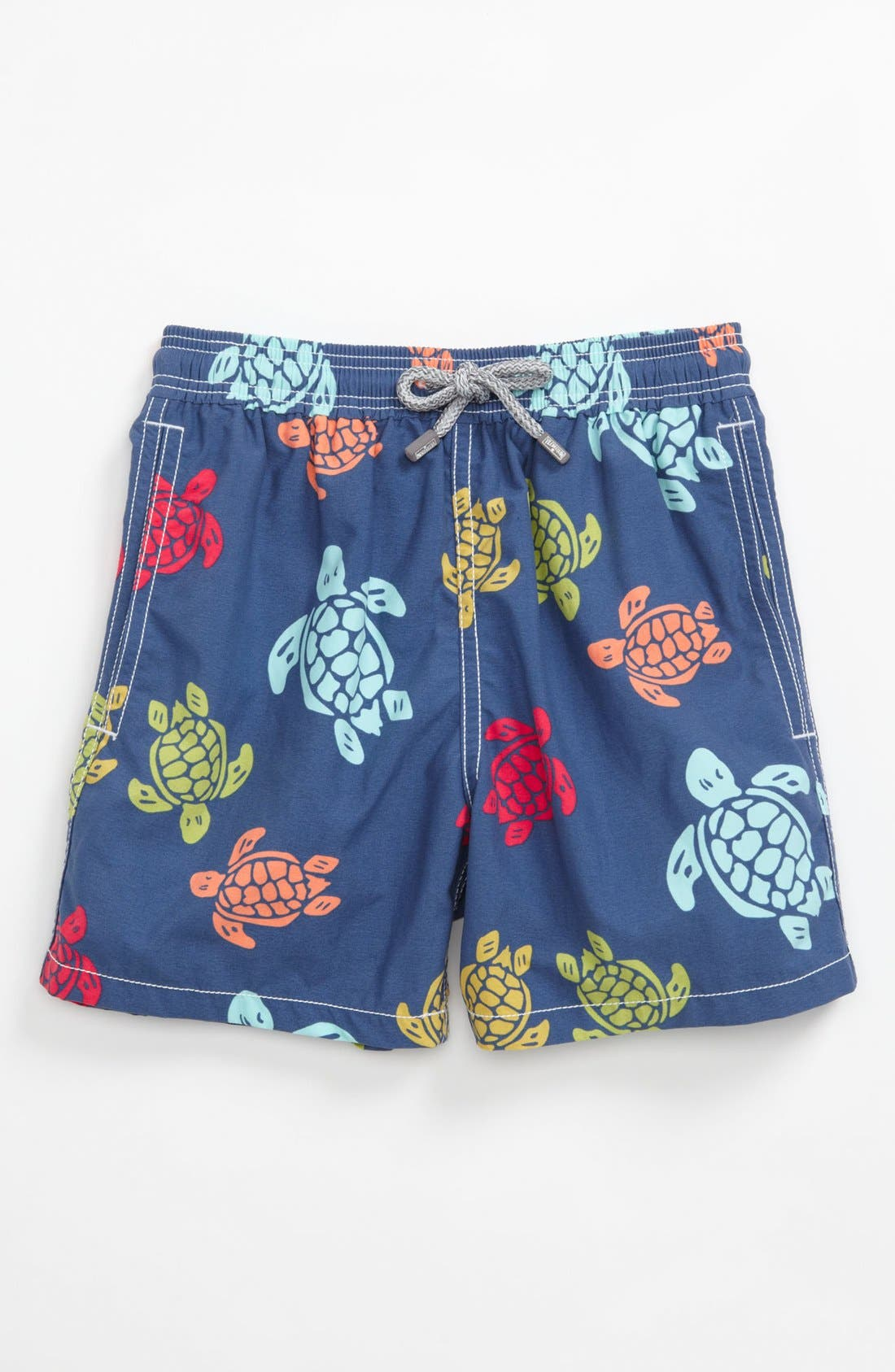 Main Image - Vilebrequin 'Jim' Turtle Print Swim Trunks (Little Boys)