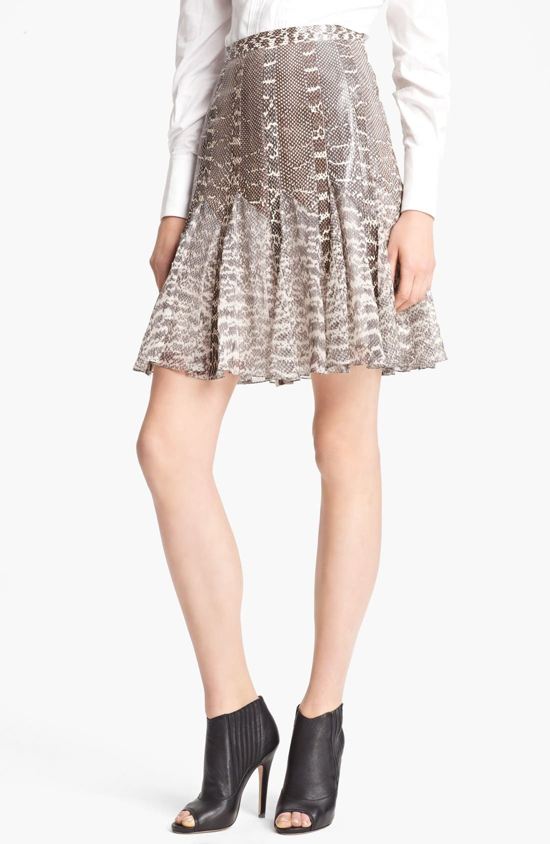 Alternate Image 1 Selected - Jason Wu Snakeskin & Chiffon Flounce Skirt